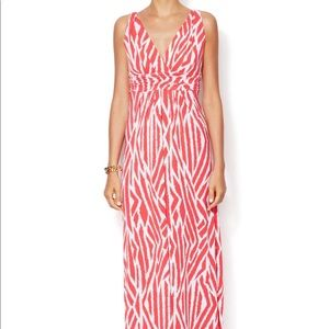 Tart Belfort Jersey Maxi Dress in Coral Print